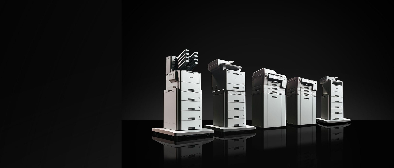 Brother MFC-L9570CDW, MFC-L6900DW, HL-L9310CDW, MFC-J6947DW and HL-J6000DW professional business printer range in black and white