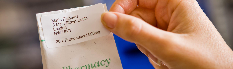 Drug bag label