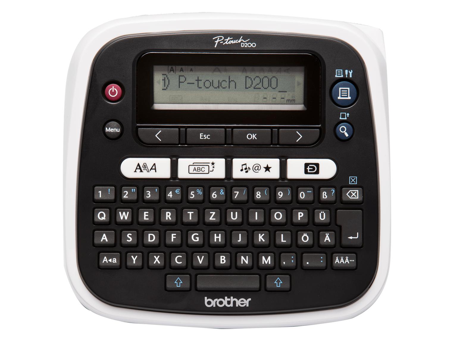 Brother PT-D200BW Etichettatrice desktop per creare etichette eleganti
