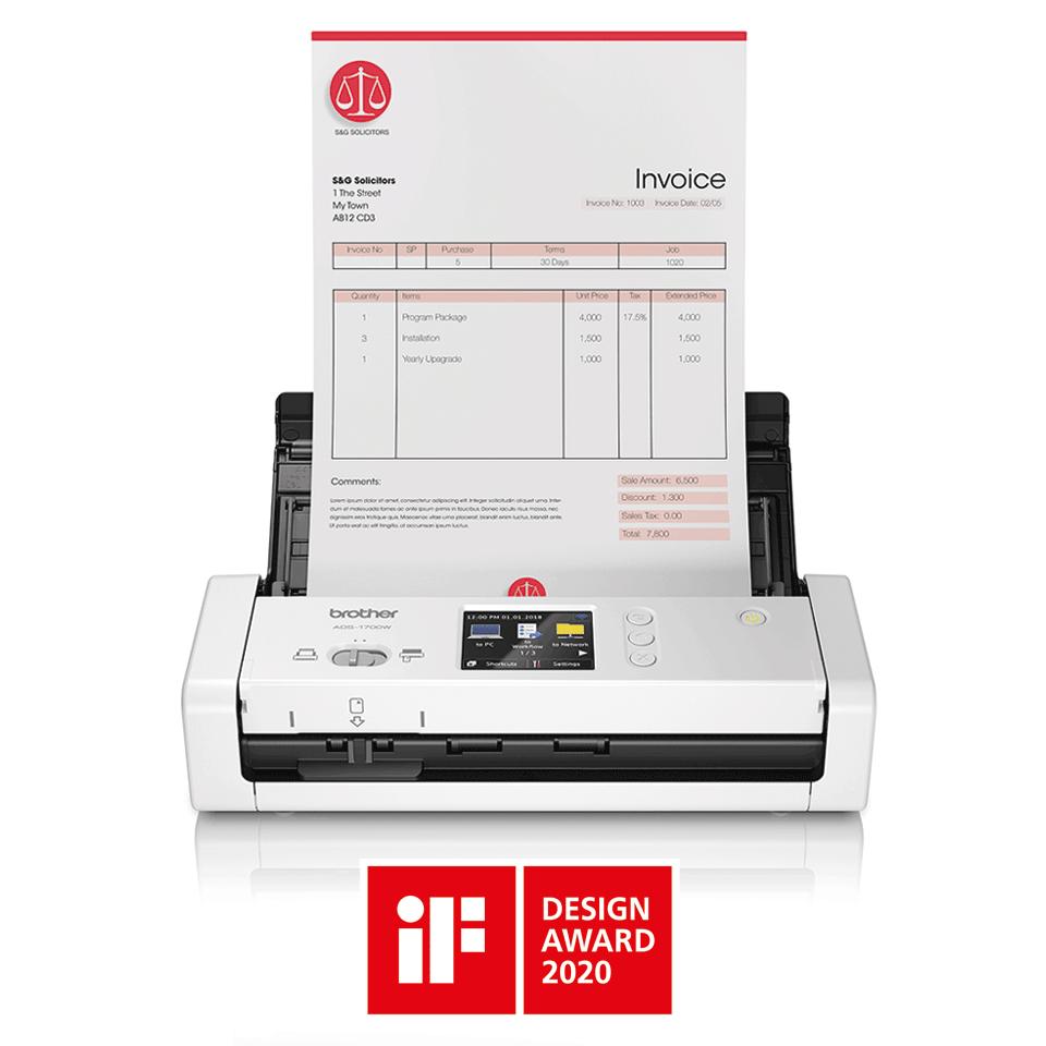 Компактный сканер документов ADS-1700W 4