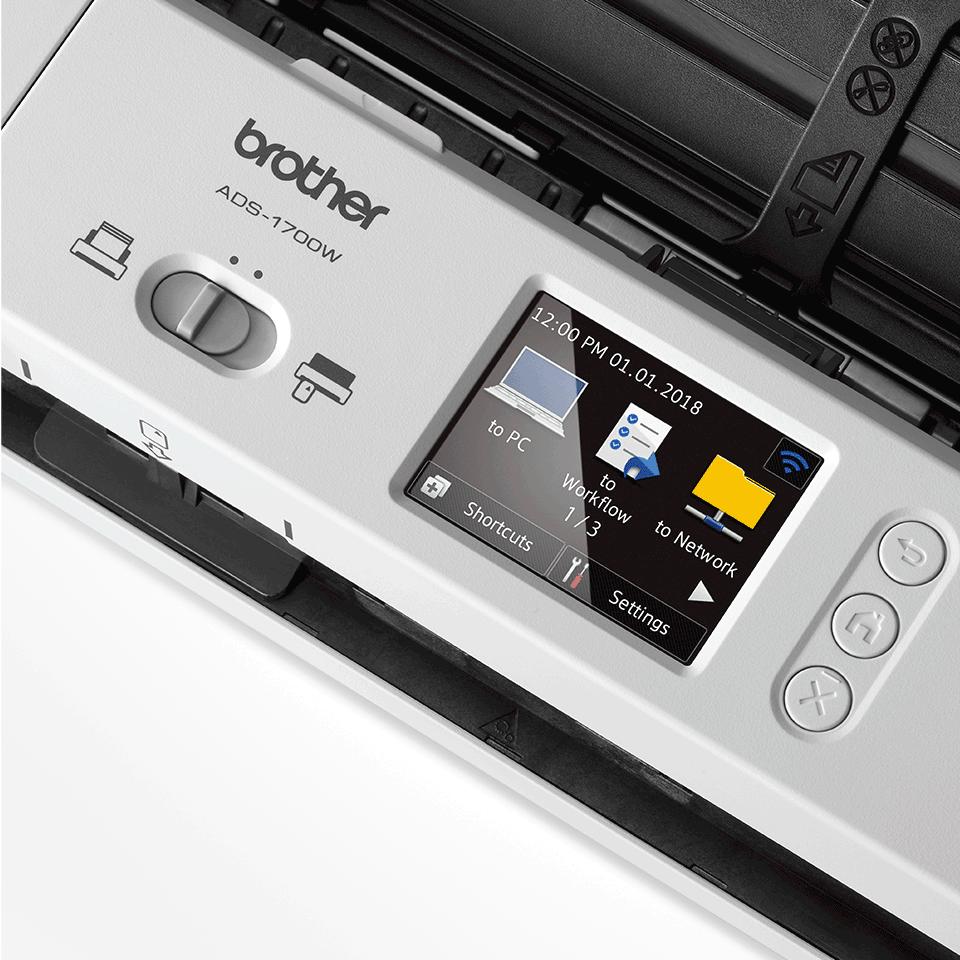 Компактный сканер документов ADS-1700W 8