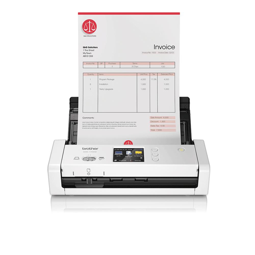 Компактный сканер документов ADS-1700W