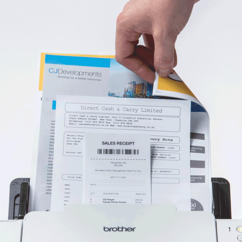 Brother ADS-2700W беспроводной сетевой документ-сканер 5