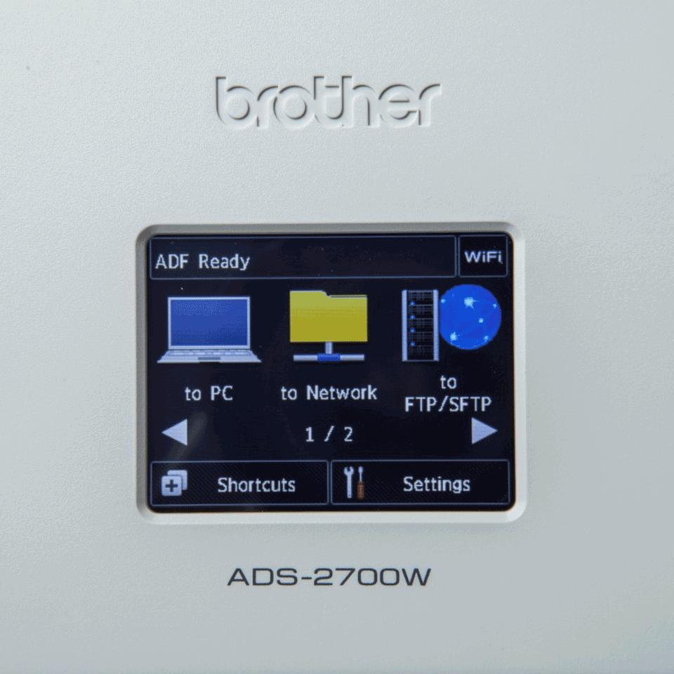 Brother ADS-2700W беспроводной сетевой документ-сканер 7