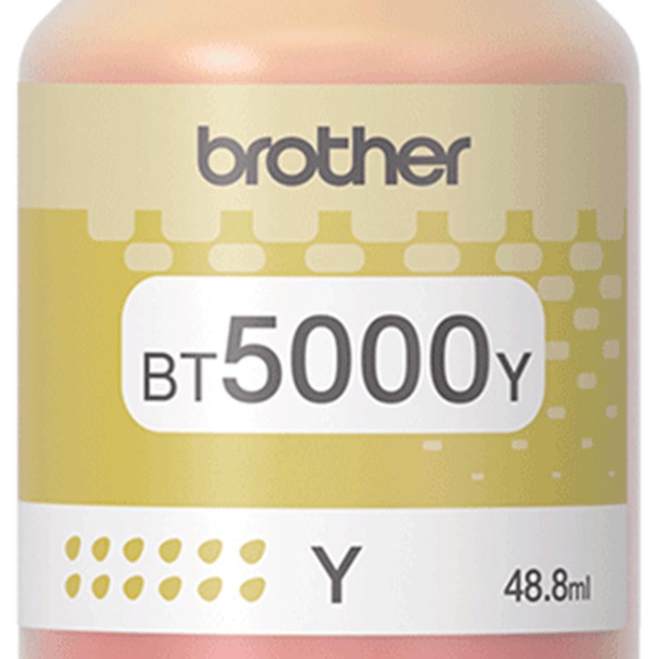 Brother BT5000Y: оригинальная бутылка с жёлтыми чернилами. 2