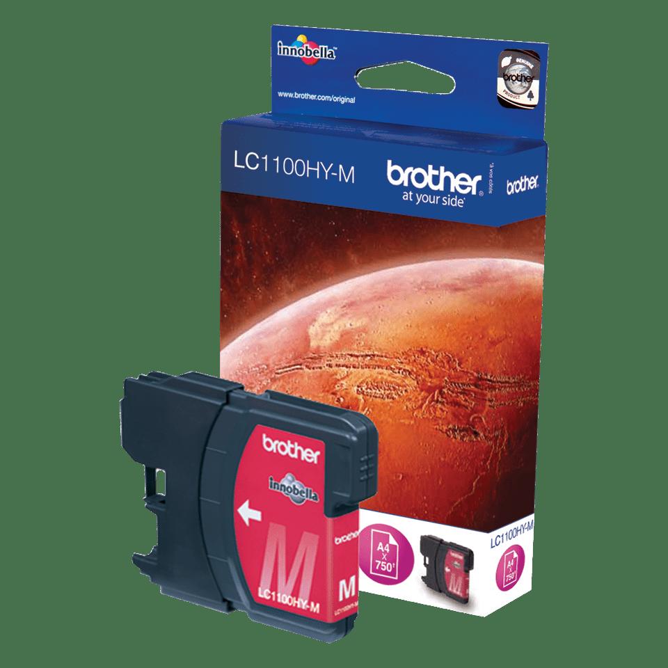 Brother LC1100HYM: оригинальная бутылка ультравысокой  емкости с красными чернилами  для заправки встроенного контейнера.