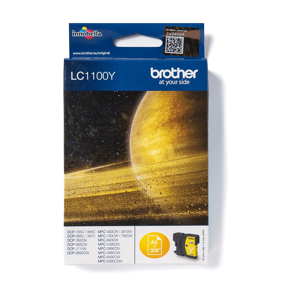 LC1100Y Brother: оригинальная бутылка с желтыми чернилами для заправки встроенного контейнера печатающего устройства
