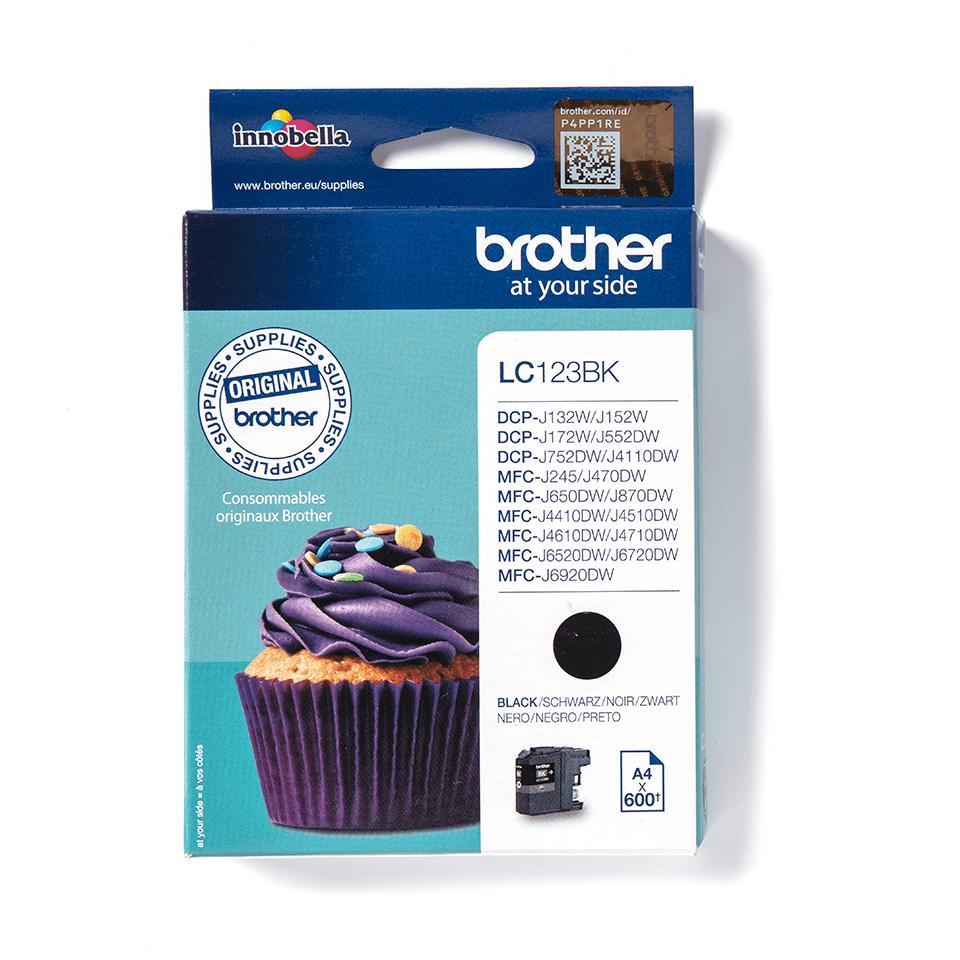 Brother LC563BK: оригинальный картридж с черными чернилами для заправки встроенного контейнера.
