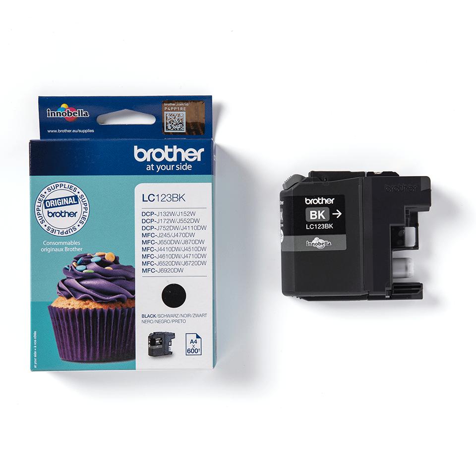 Brother LC563BK: оригинальный картридж с черными чернилами для заправки встроенного контейнера. 3