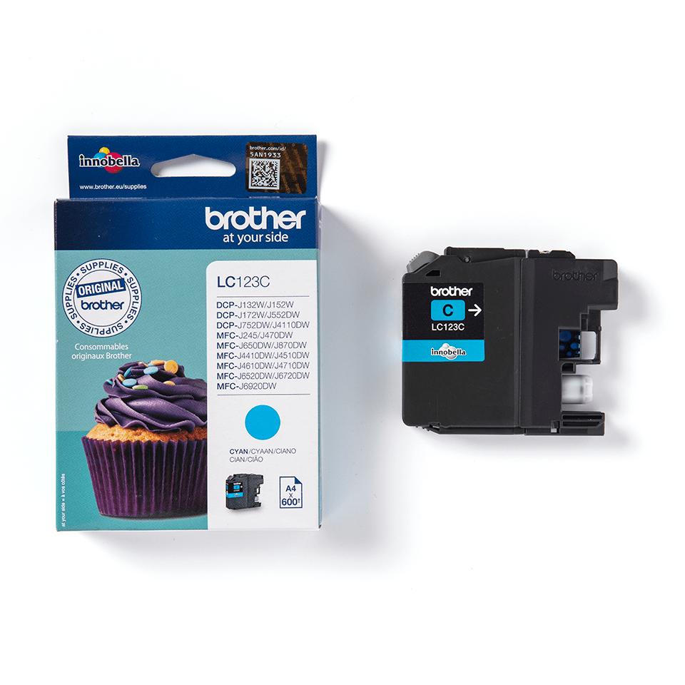 Brother LC563C: оригинальный картридж с голубыми чернилами для заправки встроенного контейнера печатающего устройства. 2