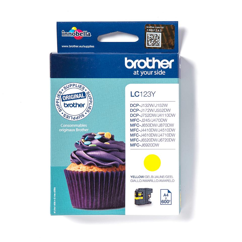Brother LC563Y: оригинальный картридж с желтыми чернилами для заправки встроенного контейнера.