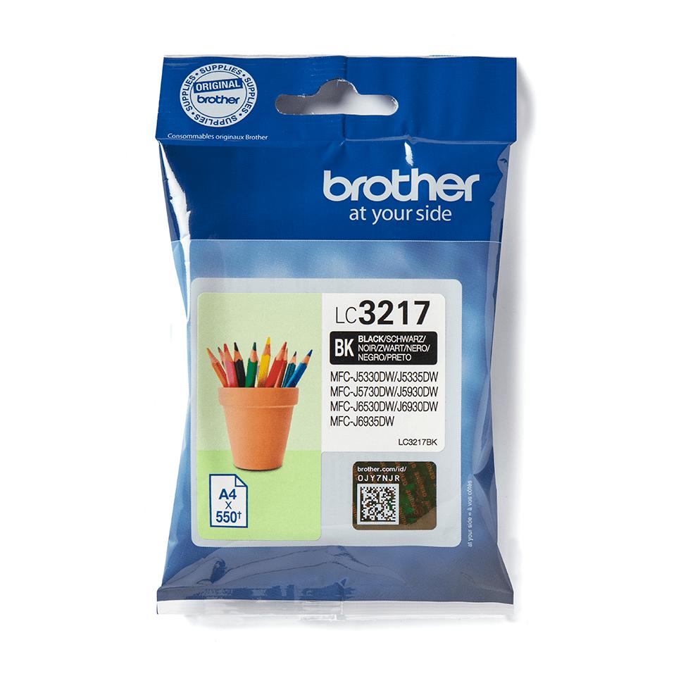 Brother LC3237BK: оригинальный картридж  с черными чернилами для заправки встроенного контейнера.  2