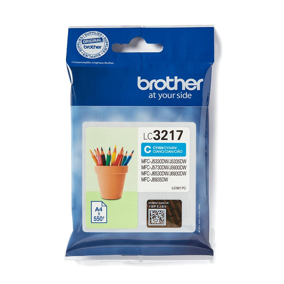 Brother LC3237C. Оригинальный картридж с голубыми чернилами.