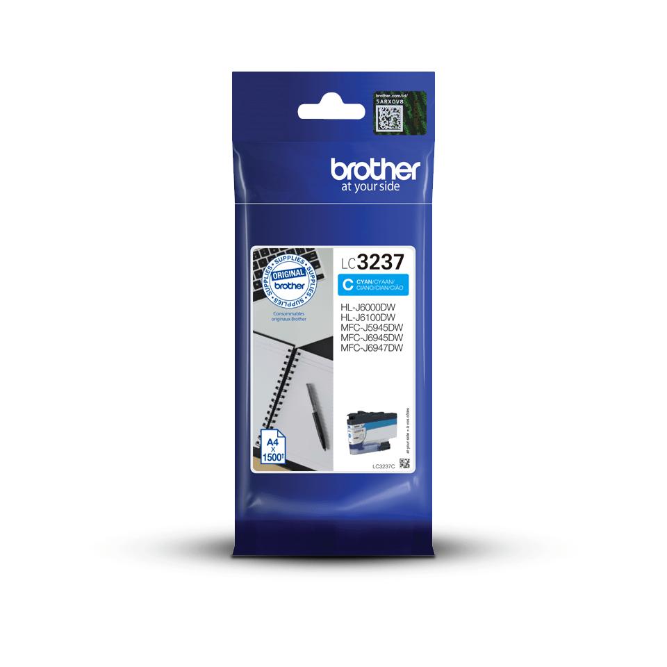 Оригинальный картридж Brother LC3237C - Голубой