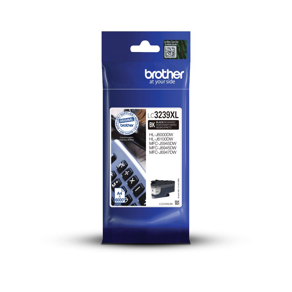 Оригинальный картридж повышенной емкости Brother LC3239XLBK - Черный