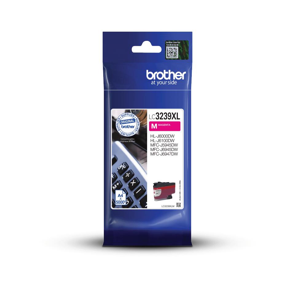 Оригинальный картридж повышенной емкости Brother LC3239XLY - Пурпурный