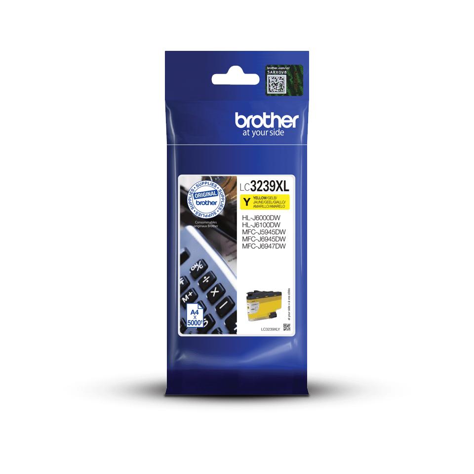 Оригинальный картридж повышенной емкости Brother LC3239XLY - Желтый 3