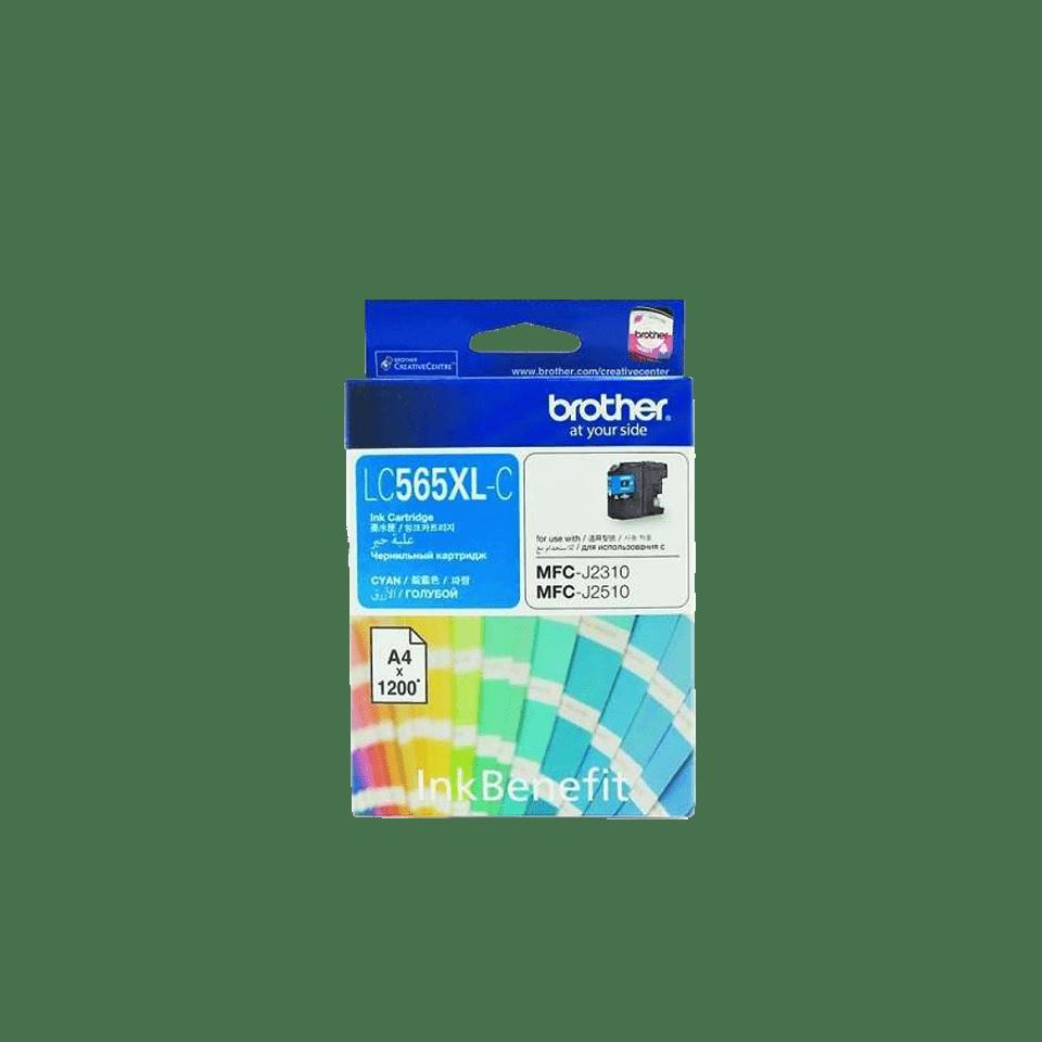 Оригинальный картридж Brother LC565XLC – Голубой