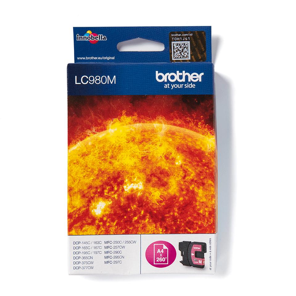Оригинальный картридж Brother LC980M – Пурпурный
