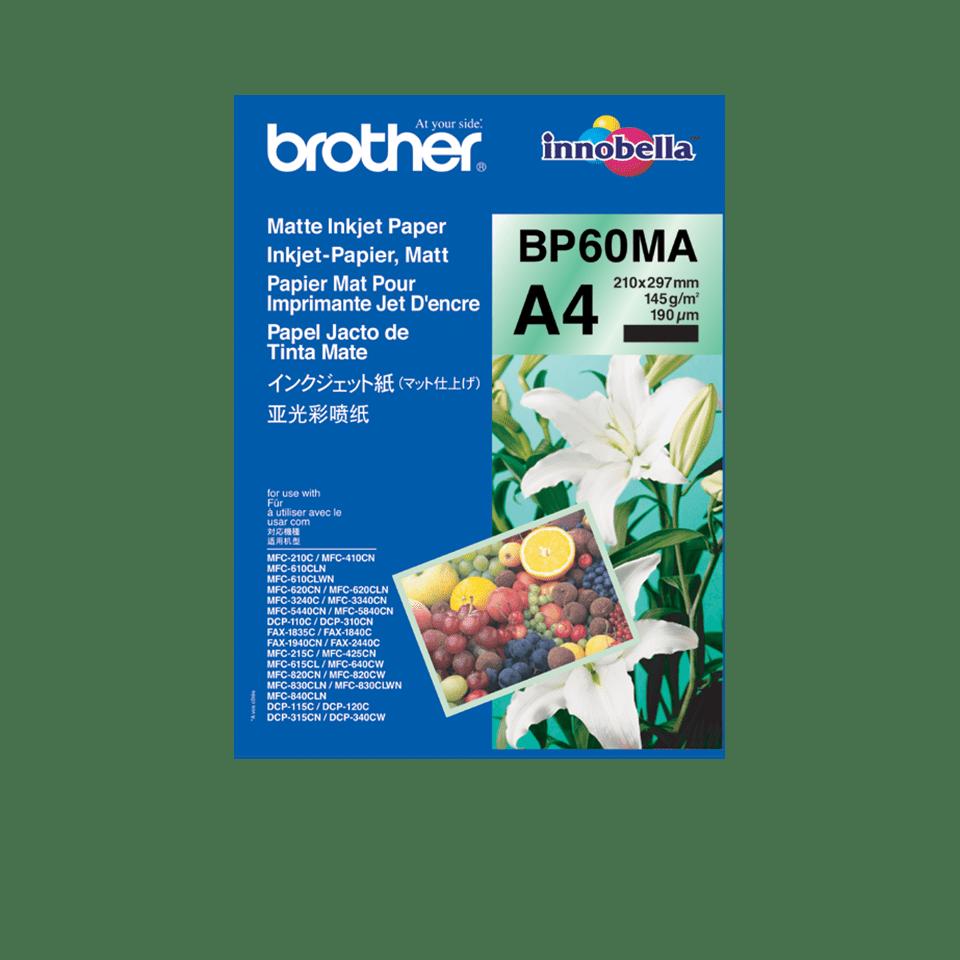 Brother BP60MA: оригинальная матовая бумага формата A4 для струйного печатающего устройства.