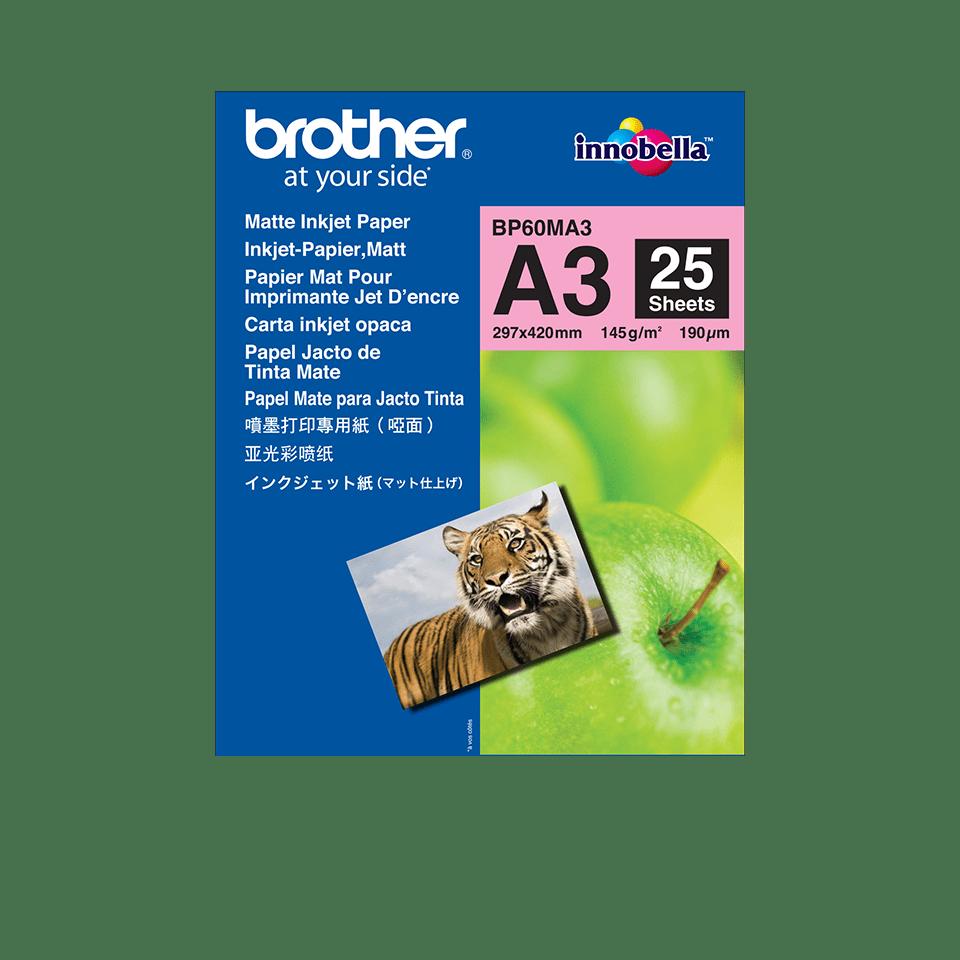 Brother BP60MA3: оригинальная матовая бумага формата A3 для струйного печатающего устройства.