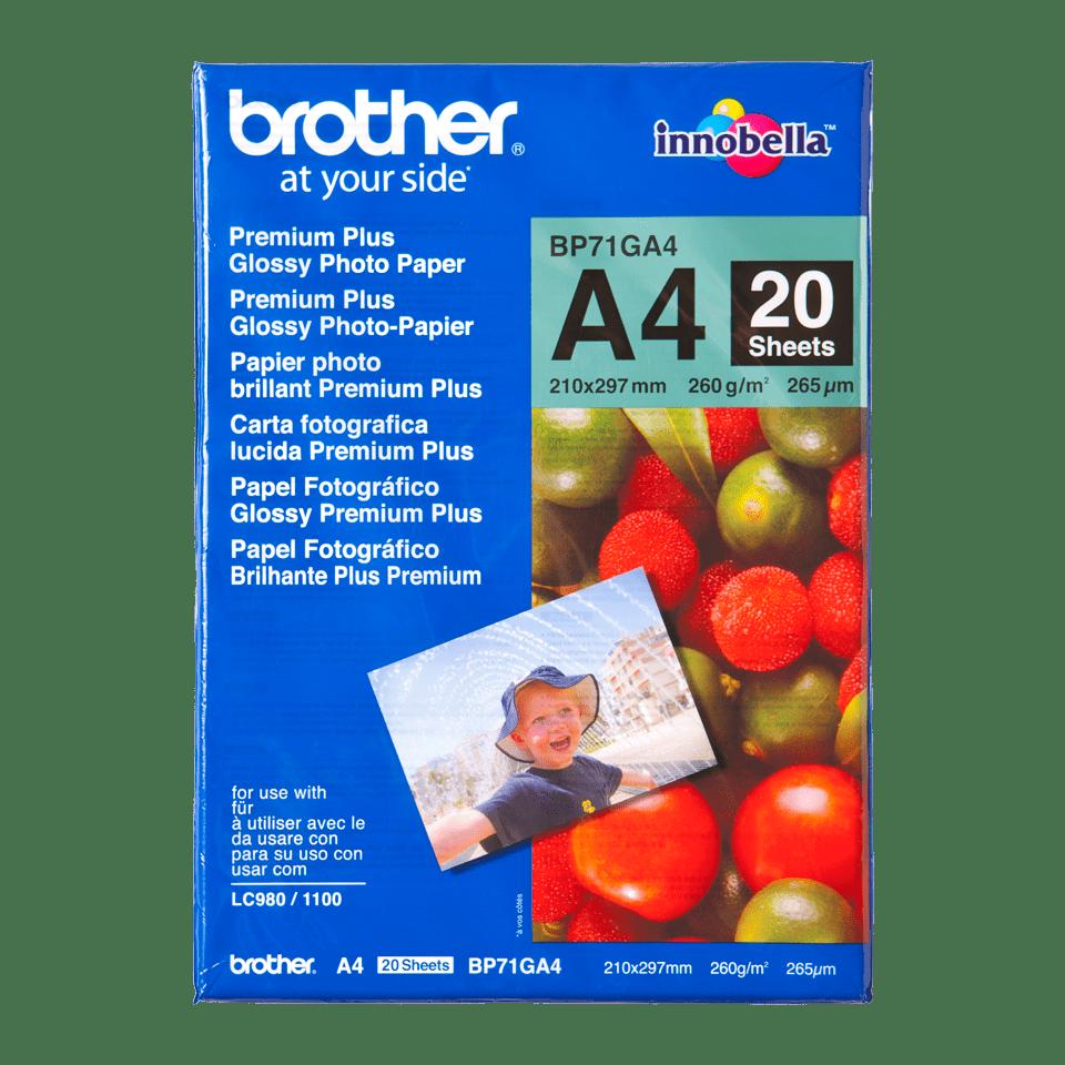 Brother BP71GA4: оригинальная глянцевая фотобумага формата А4.