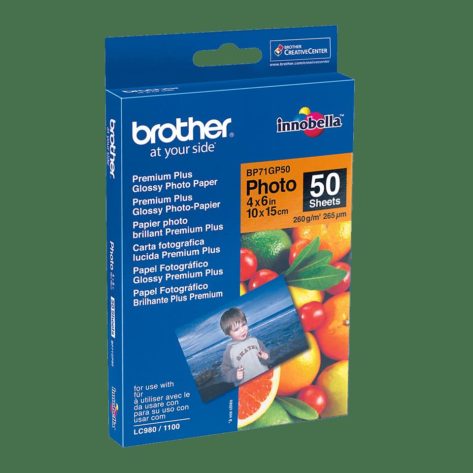 Brother BP71GP50: оригинальная глянцевая фотобумага формата 10 см х 15 см.