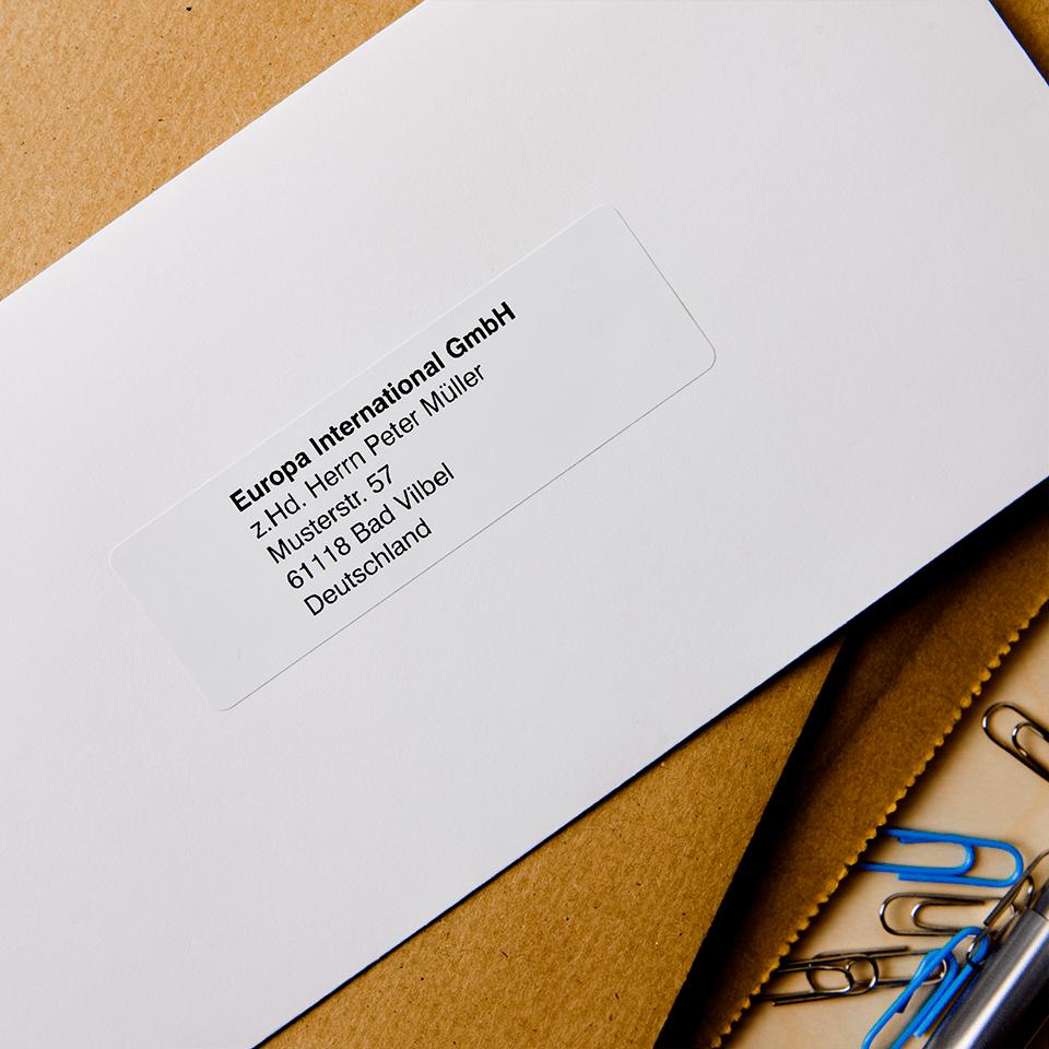 Brother DK11201: оригинальный рулон для печати наклеек черным на белом фоне, 29 мм х 90 мм. 2