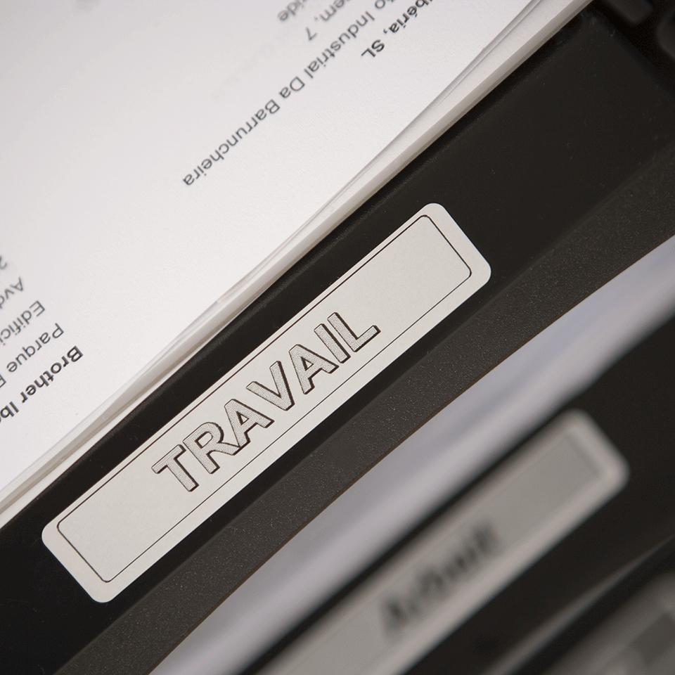 Brother DK11204: оригинальная лента для печати наклеек черным на белом фоне, 17 мм х 54 мм. 2