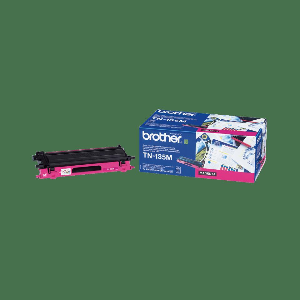 Оригинальный тонер-картридж повышенной емкости Brother TN-135С – Пурпурный
