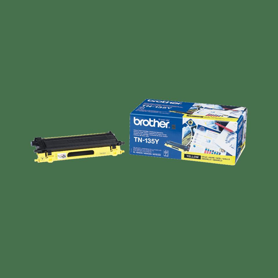 Оригинальный тонер-картридж повышенной емкости Brother TN-135Y – Желтый