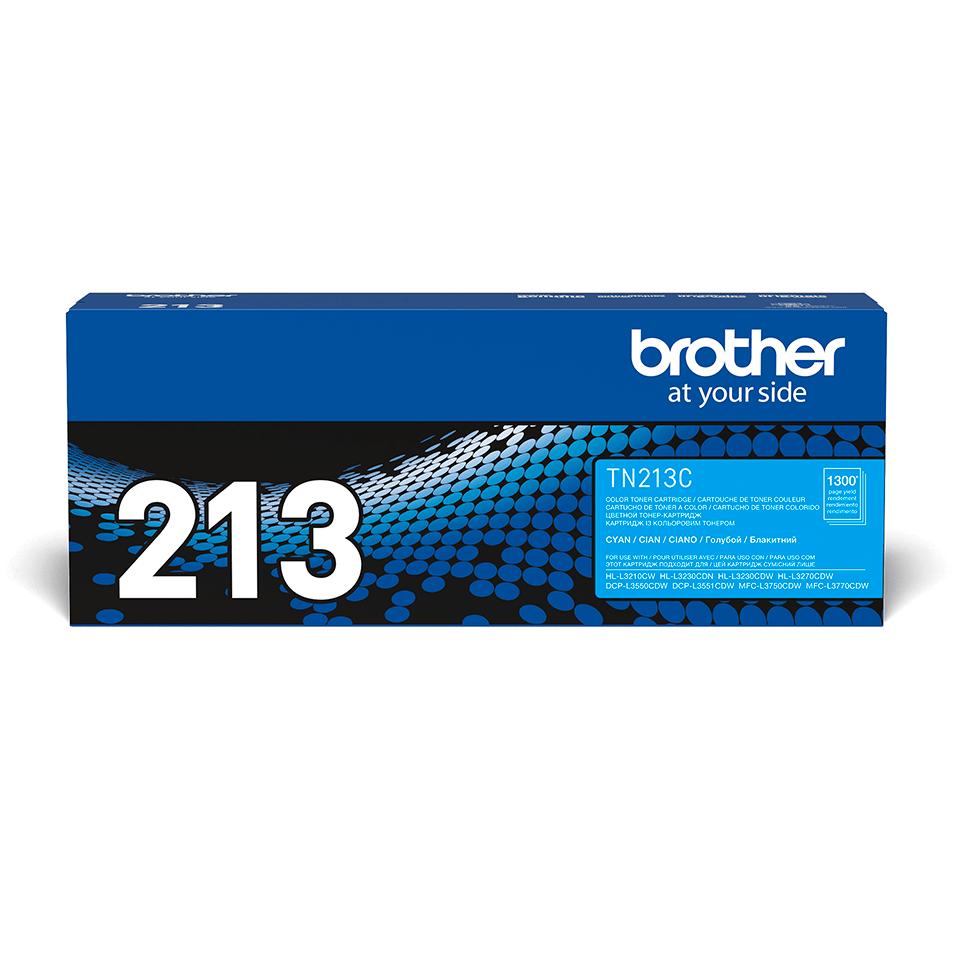 Оригинальный Brother TN213C тонер картридж – голубой