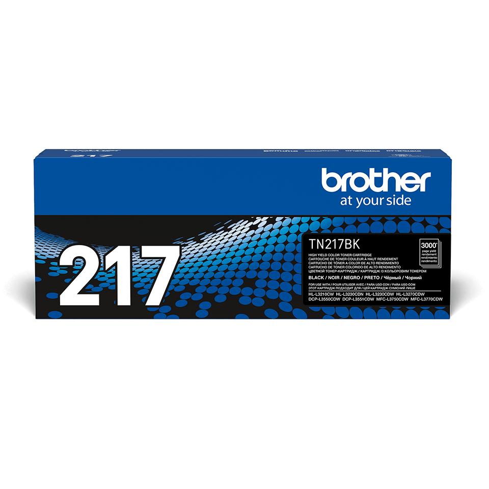 Оригинальный Brother TN217BK тонер картридж – черный