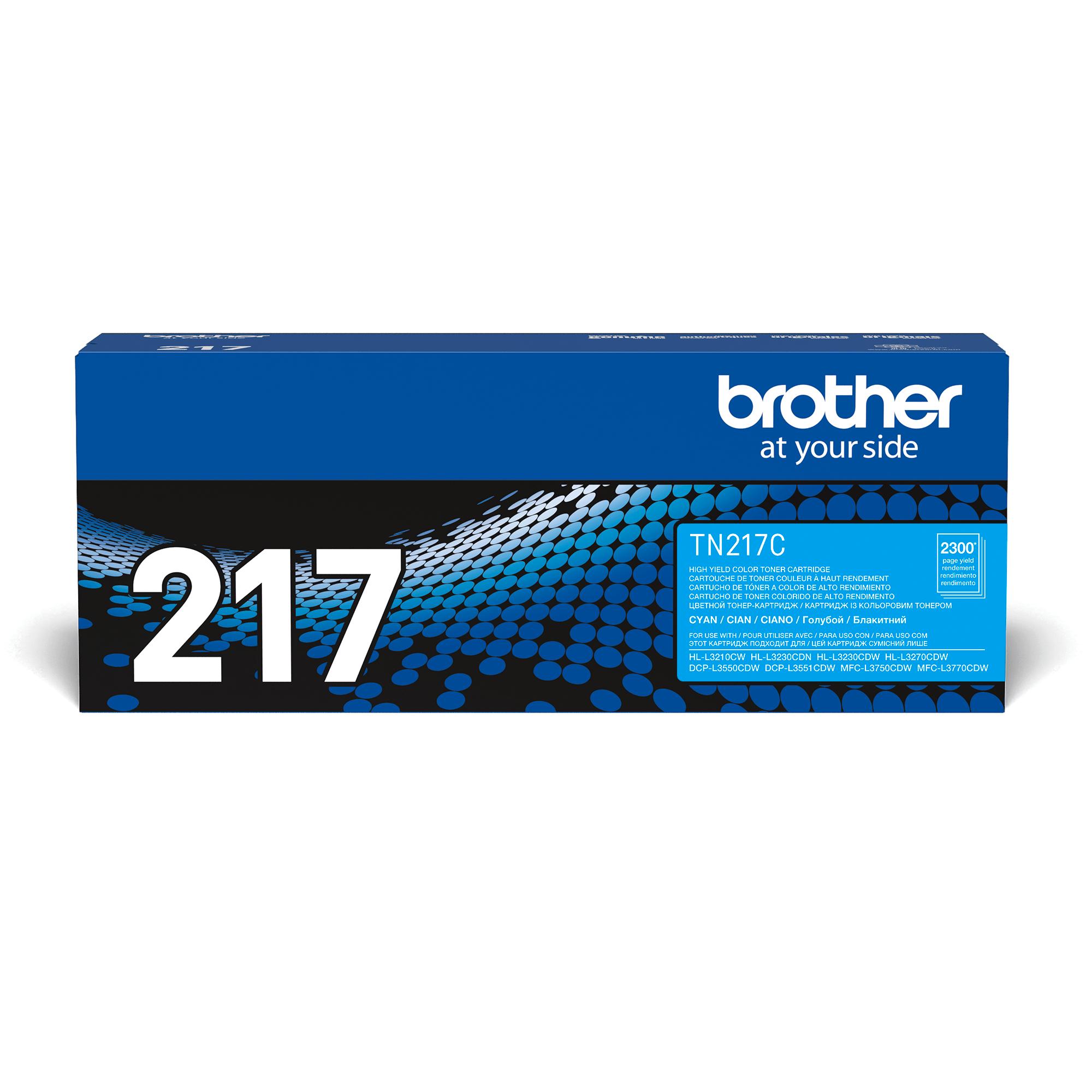 Оригинальный Brother TN217C тонер картридж – голубой 2