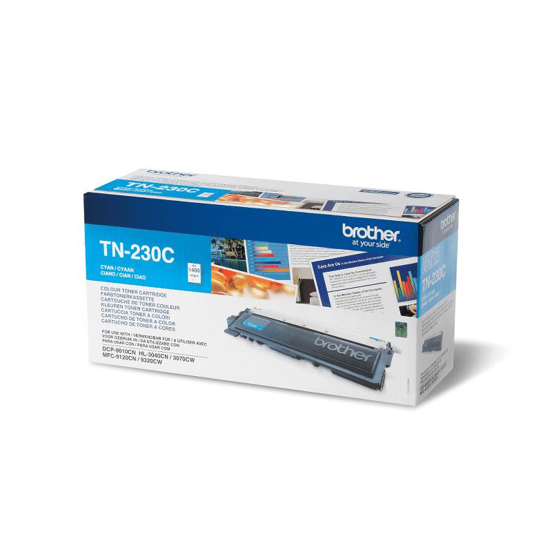 Brother TN230C: оригинальный голубой тонер-картридж.