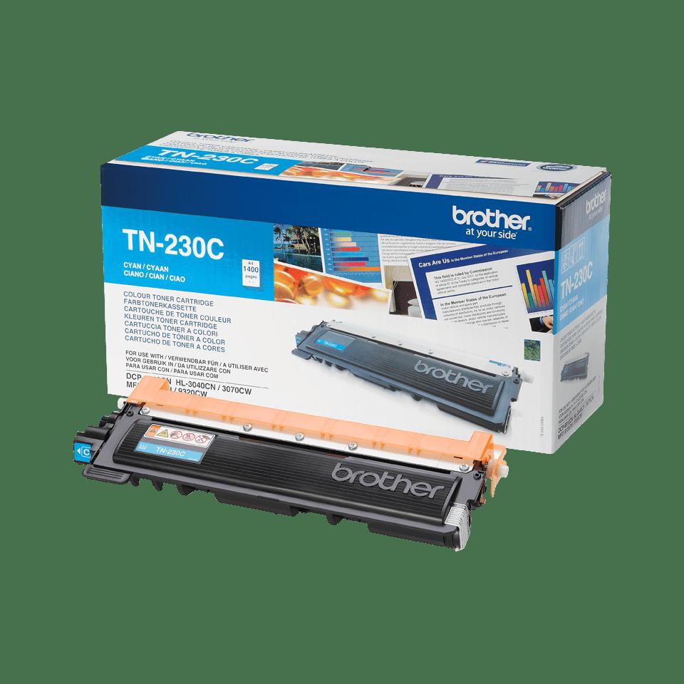 Brother TN230C: оригинальный голубой тонер-картридж. 2