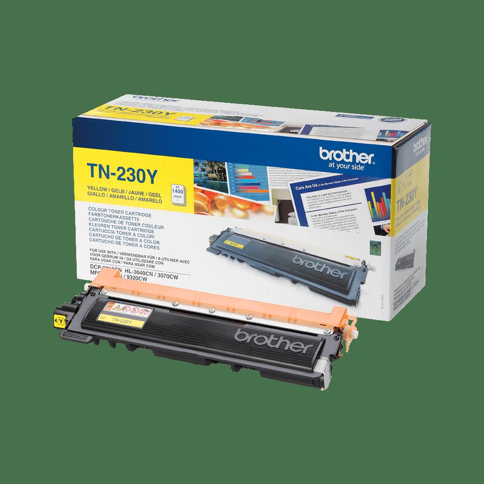 Оригинальный тонер-картридж Brother TN-230Y – Желтый