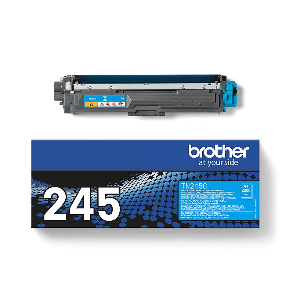 Оригинальный тонер-картридж Brother TN-245С – Голубой 2
