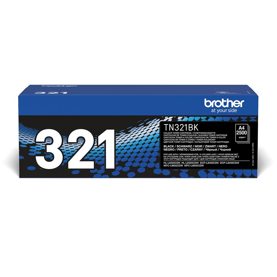 Оригинальный тонер-картридж Brother TN-321BK – Черный 0