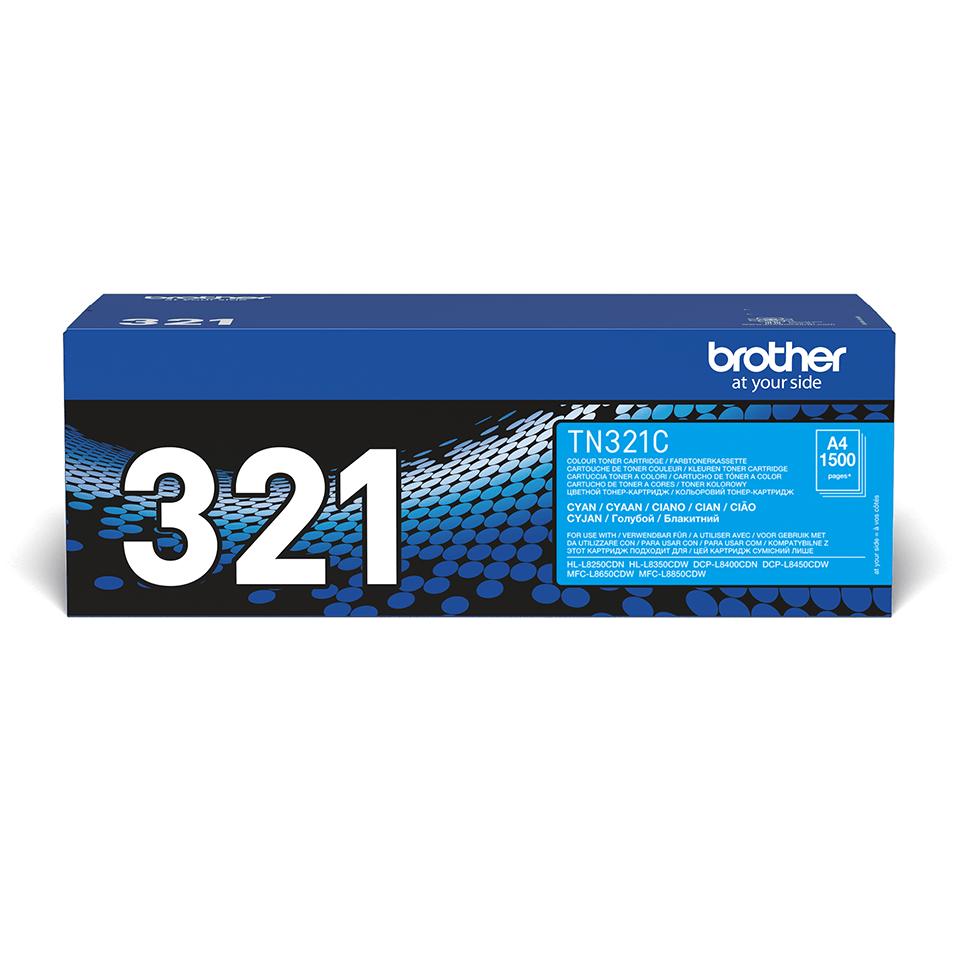 Оригинальный тонер-картридж Brother TN-321С – Голубой 2