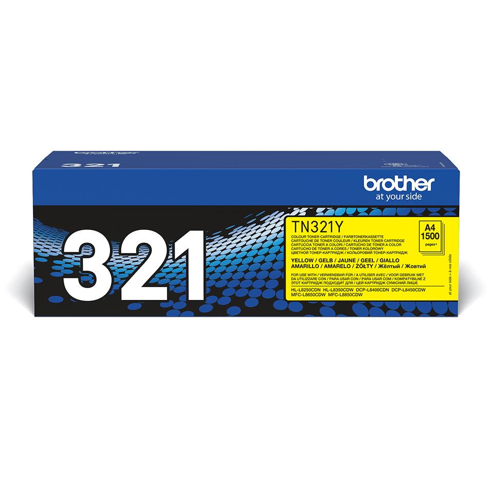 Оригинальный тонер-картридж Brother TN-321Y – Желтый