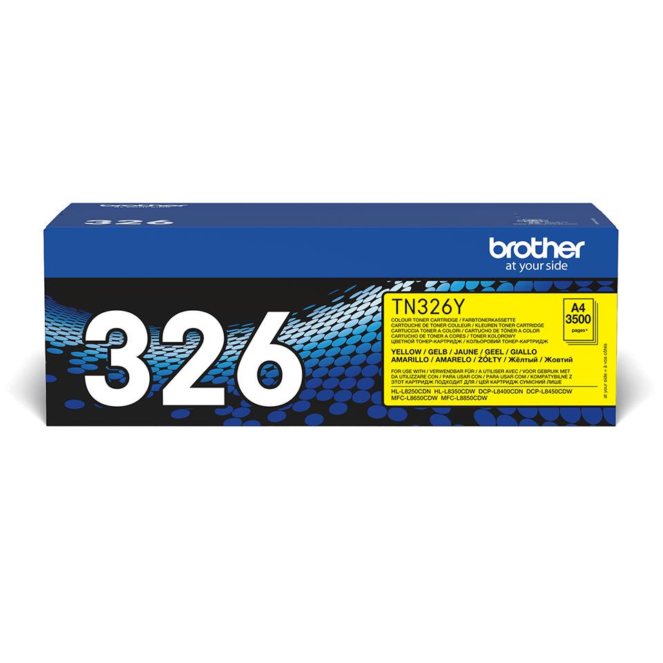 Brother TN326Y: оригинальный желтый тонер-картридж.