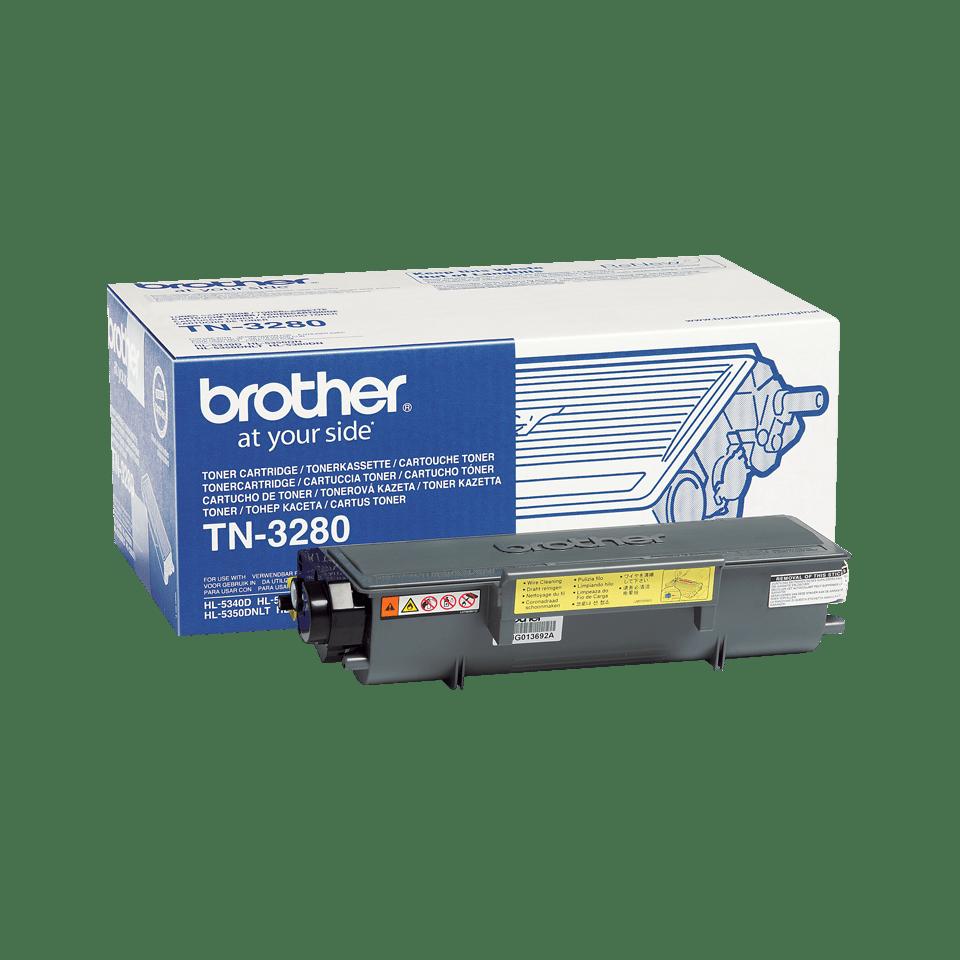 Brother TN3280: оригинальный черный тонер-картридж ультравысокой емкости для печатающего устройства.