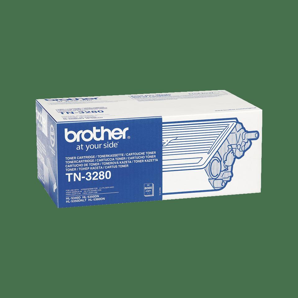 Brother TN3280: оригинальный черный тонер-картридж ультравысокой емкости для печатающего устройства. 2