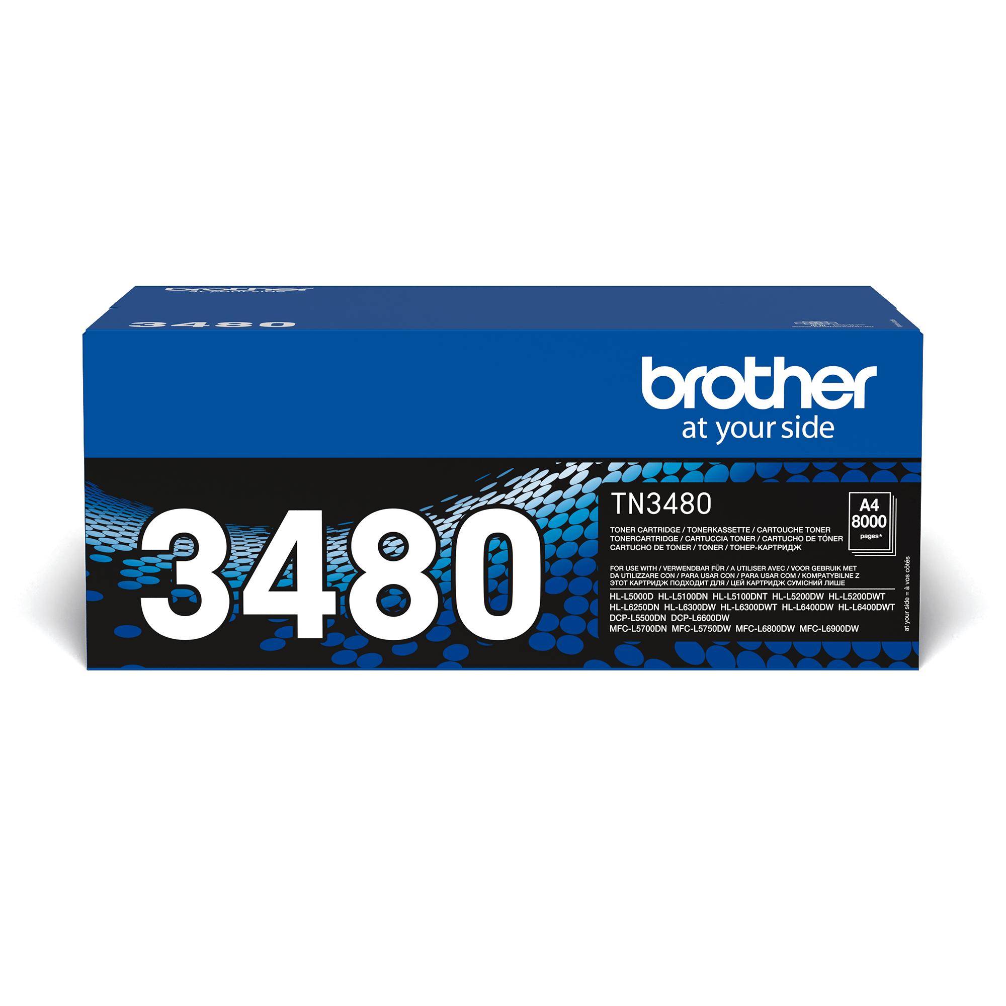 Оригинальный тонер-картридж Brother TN-3480
