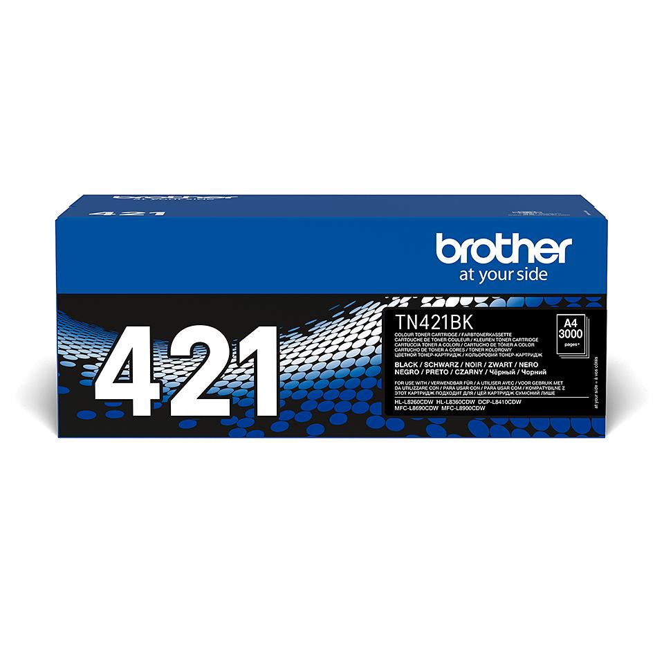 Brother TN421BK: оригинальный черный тонер-картридж. 2