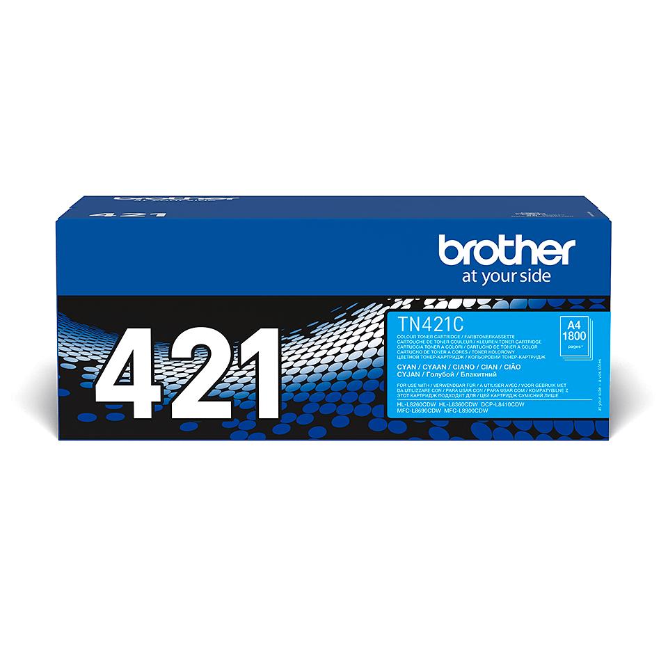 Brother TN421C: оригинальный голубой тонер-картридж.