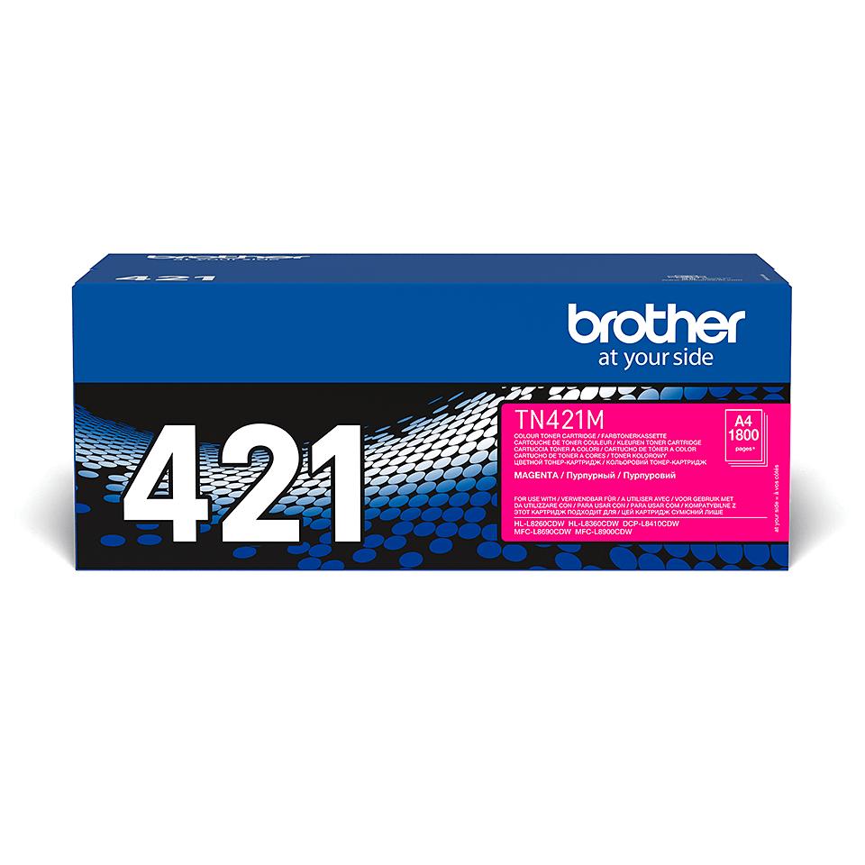Оригинальный Brother TN421M тонер картридж – пурпурный 2