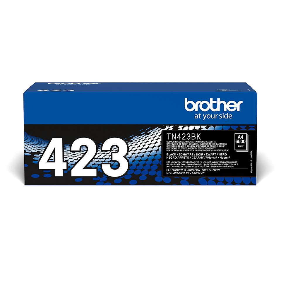Brother TN423BK: оригинальный черный тонер-картридж.