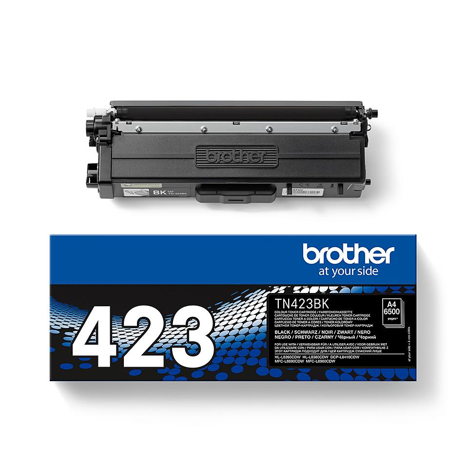 Brother TN423BK: оригинальный черный тонер-картридж. 2